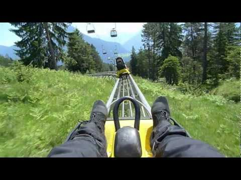 Longest Alpine Coaster in Imst. Austria