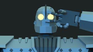 "  EthanRonArt   Low Poly Timelapse: ""The Iron Giant"""