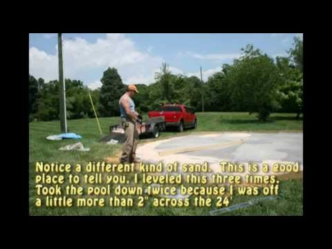 Intex Above Ground Pool - Installing/Leveling