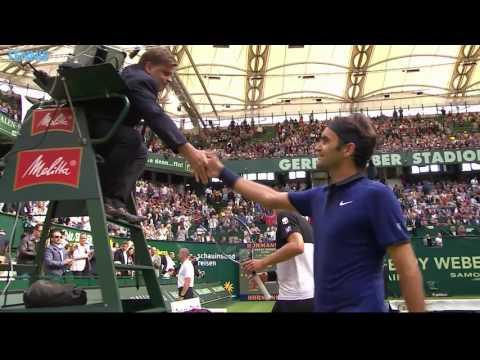 Federer Thiem Advance In Halle Highlights 2016