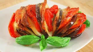 Eggplant with Cheese and Tomatoes! Super Delicious!