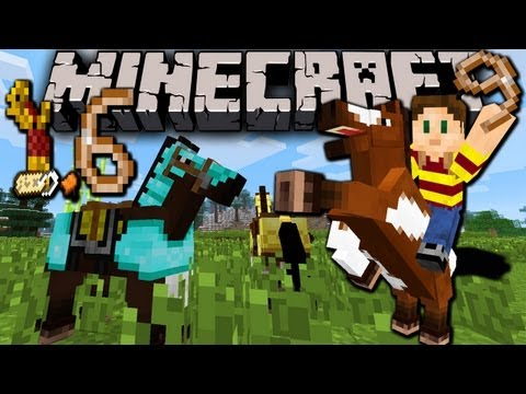 Minecraft 1.6 is OUT! Horse Basics: How to Find, Tame, Ride, Breed, Jump (1.6.1 & 1.6.2)