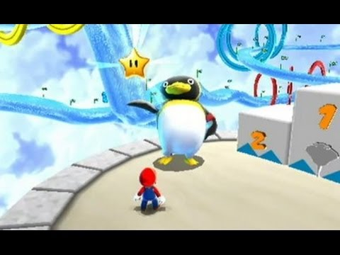 Super Mario Galaxy 100% Walkthrough - Part 16 Bubble Blast, Rolling Gizmo & Loopdeswoop Galaxies