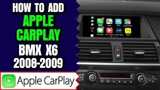 BMW X6 E71 CCC Video Interface, Apple Carplay  Android Auto 2 in 1 or Wireless Smartphone Mirroring