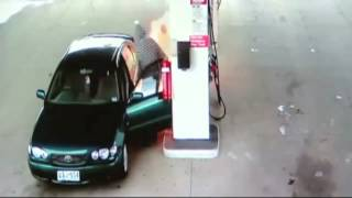 Man Playing With Lighter Sets Himself on Fire at Gas Station