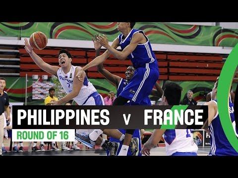 Philippines v France - Round of 16 Full Game - 2014 FIBA U17 World Championship
