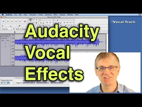 how to change sound of voice in audacity