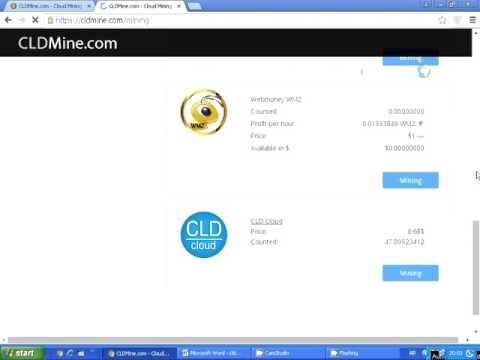 ربح و استثمار البيتكوين Bitcoin فى شركه Cldmine