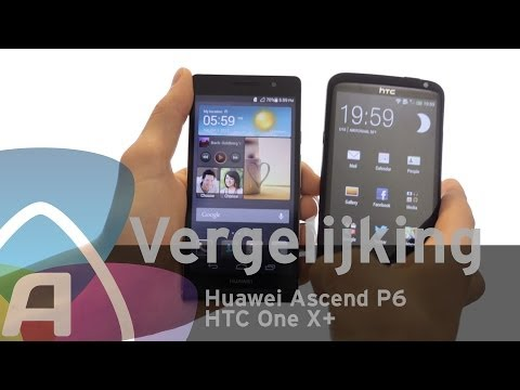 Huawei Ascend P6 vs HTC One X+ review (Dutch)