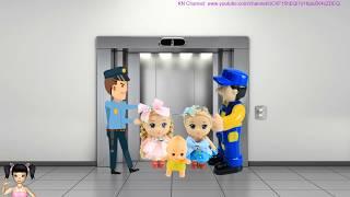 BÚP BÊ KN Channel LÀM CÚP ĐIỆN THANG MÁY | TẬP ĐÁNH RĂNG | Đồ chơi trẻ em