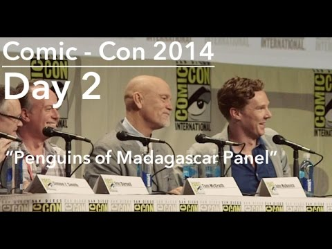 PENGUINS Panel, Comic - Con 2014; feat: BENEDICT CUMBERBATCH, JOHN MALKOVICH