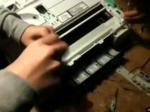 Disassembling a Brother DCP-195C printer & scanner