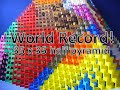 World Record! Biggest Domino 3D Half Pyramid! (35x35) 15,000 Dominoes