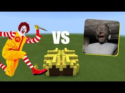 Ronald McDonald vs Granny   Minecraft PE