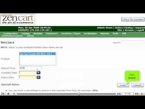 0 Setup special promotions in ZenCart by VodaHost web hosting