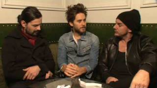 30 Seconds to Mars Video - NME Video: 30 Seconds To Mars Interview