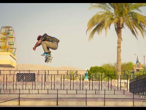 Skateboarding through the Intense Heat of Oman