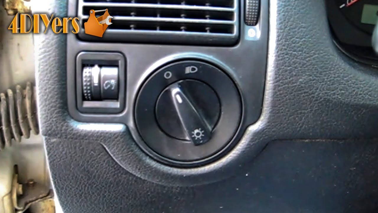diy  volkswagen headlight switch removal