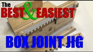 Woodworking: How to make the BEST and EASIEST box joint / finger joint jig.