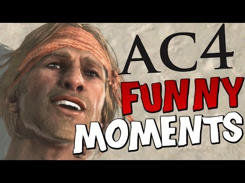 Assassin's Creed 4: Black Flag Funny Moments Gameplay: Free Roam Pirating Ships Killing Animals Ac4 video
