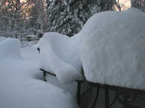 Blizzard of 2010 time lapse - 26 inches of snow!