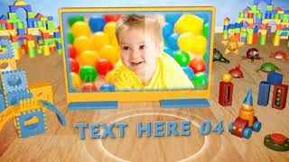 3D Toys For Kids Gallery   After Effects template