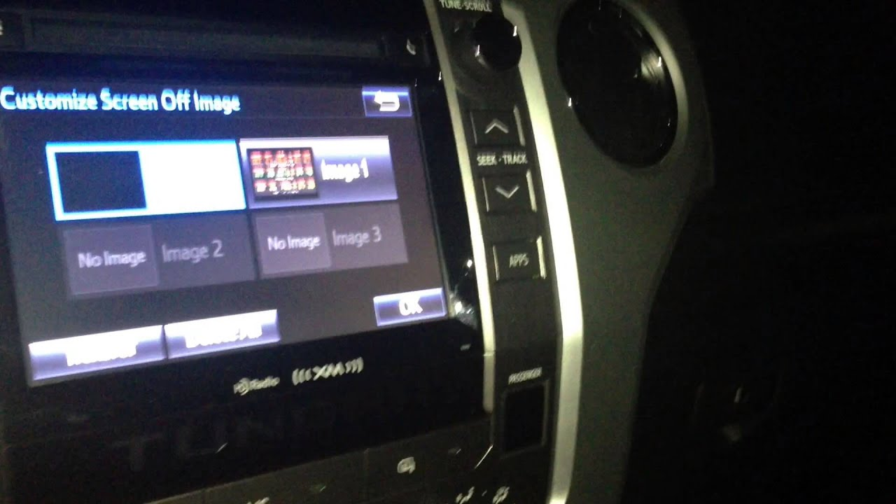 How To Customize 2014 Tundra Entune Display Images Youtube