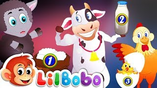 Baa Baa Black Sheep & Other Farm Animals | Little BoBo Nursery Rhymes | FlickBox Kids Songs