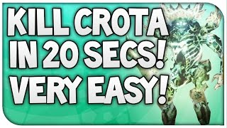 "Destiny : ""KILL CROTA IN 20 SECS"" Kill Crota In 20 Seconds Very Easy (Sword Glitch)"
