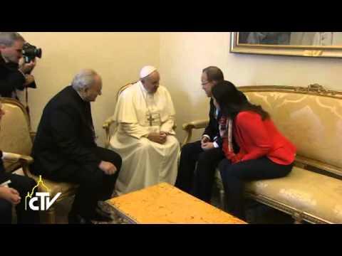 Meeting at the Vatican between Pope Francis and Ban Ki-moon