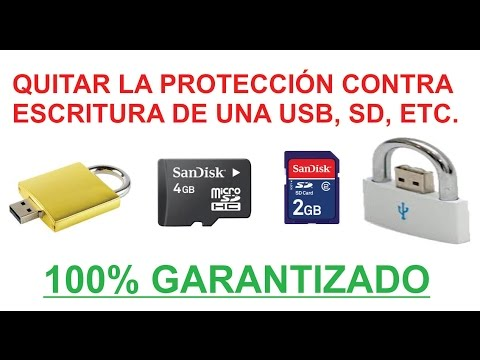 QUITAR LA PROTECCIÓN CONTRA ESCRITURA DE UNA USB, DEVICE MEDIA IS WRITE PROTECTED SOLUCIONADO