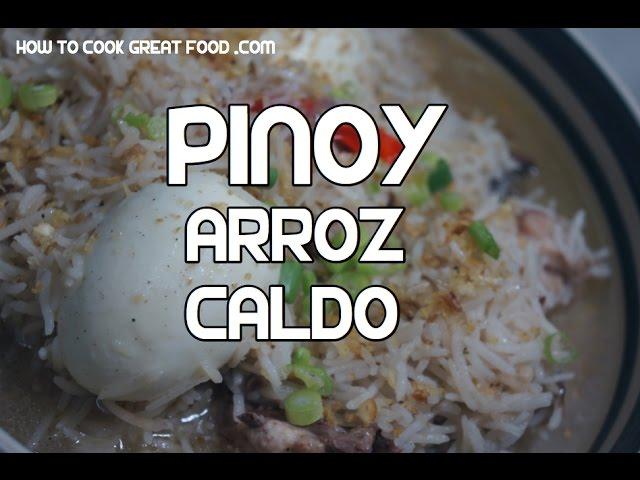 Arroz Caldo Recipe - Tagalog Pinoy Chicken Rice arrozcaldo