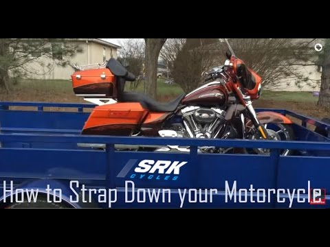 How to Tie down your Harley Davidson: srkcycles.com