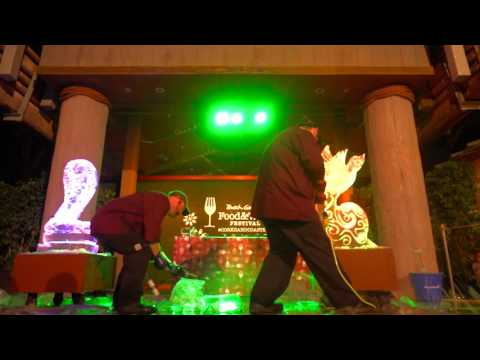 Art of Food: Ice Sculpture Duel at the Food & Wine Festival Busch Gardens® Tampa Bay