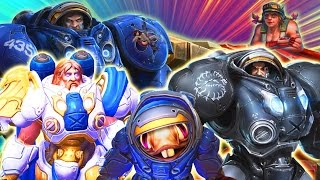 Theme Teams: Terran | Space People in Space Suits Doing Space Stuff | HotS Gameplay