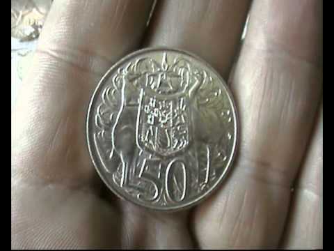 50 Cent Round Australian Silver Coin 1966 Proof For Sale