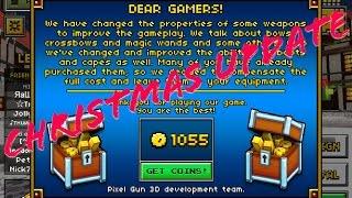 "Pixel Gun 3D ""Christmas Update Free Coins"" (iOS/Andriod)"