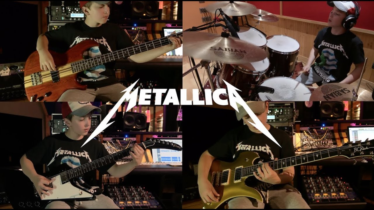 13 Years Old And Just Tearing Into Metallica