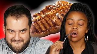 People Guess Cheap Vs. Expensive Steaks