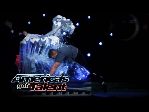 JD Anderson: Strongman Cuts His Head Open During Stunt - America's Got Talent 2014
