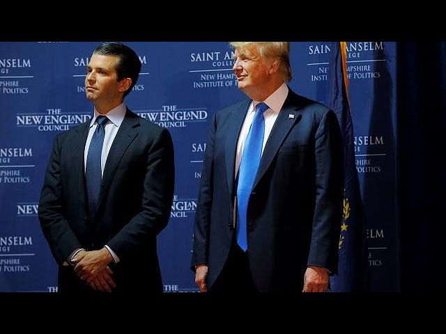 Trump 'weighed in' on son's Russia statement - White House