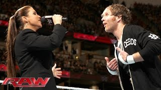 Stephanie McMahon has a surprise for Dean Ambrose: Raw, February 15, 2016