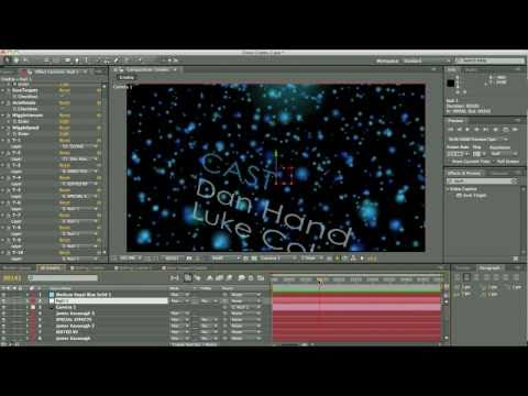 How to make film and movie credits - After Effects Tutorial