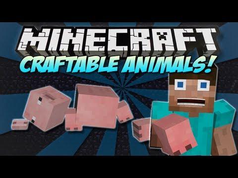 Minecraft   CRAFTABLE ANIMALS & MOBS MOD!   Craft the ENDER DRAGON! [1.4.7]