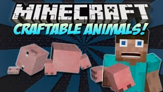 Minecraft : CRAFTABLE ANIMALS & MOBS MOD! (Craft the ENDER DRAGON!)