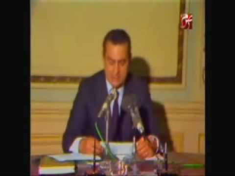 حسني مبارك يعلن وفاة أنور السادات