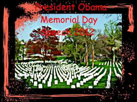 President Obama Speech Memorial Day