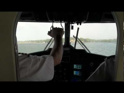 Srilankan Airlines Air Taxi - Inflight Landing, Koggala Lake video