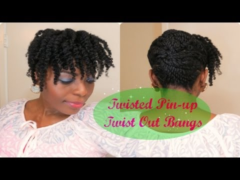 81* Natural Hair Tutorial| Twisted Pinup Twist out Bangs