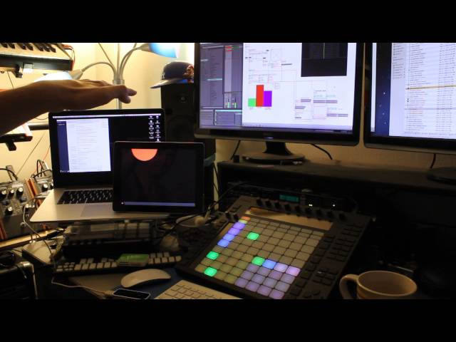 Interfacing the LEAP Motion with Ableton (Programmed in Max)